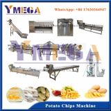 Henan gelé et automatique d'alimentation Yearmega Fry Potato Chips Making Machine