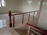 Prefab escada de aço inoxidável de madeira para escadas retas