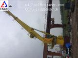 Guindaste telescópico hidráulico marinho do crescimento da plataforma para a porta