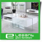 [مدف] جانب طاولة مع سيقان زجاجيّة في لون بيضاء