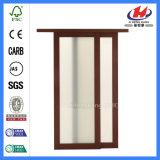 Puerta deslizante de la pintura de fondo del granero de madera blanco popular de los precios