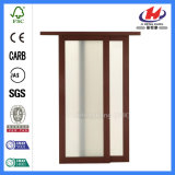 Раздвижная дверь дверей амбара цен раздвижных дверей популярного белого праймера деревянная