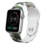 Faixa de relógio feita sob encomenda da impressão do silicone de borracha macio para a cinta de relógio de Apple