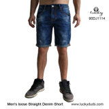 Men's Denim Blue Jeans Shorts pantalones vaqueros chicos
