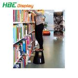 مكتبة متحف مغازة كبرى تقدّم بلاستيك [2-ستب] رفس سلّم إصطبل كرسيّ مختبر