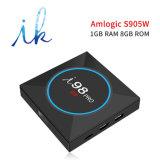 PROAndroid I98 Fernsehapparat-Kasten mit Amlogic S905W 1GB RAM/8GB ROM mit hellem veränderbarem 2.4GHz WiFi Support 4K HD LED-