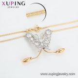 Monili della collana placcati oro di figura della farfalla