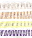 Kledingaccessoires, modeaccessoires, nylon mesh & AB kleurenruiten, ruiten, tape, barcodes, voor Fashion Match