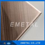 Strato decorativo progettato dell'acciaio inossidabile della linea sottile del grano trasversale con colore