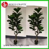 160см синтетических дерево Ficus завод в сосуд