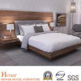 Acabado nogal dormitorio moderno muebles cama