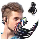 Fone de ouvido sem fio Bluetooth Headset impermeável com auscultadores com microfone de funcionamento desportivo