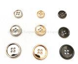 Acessórios de moda e acessórios de vestuário, botões de liga metálica com 4 orifícios, usado para vestuário de moda