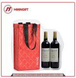 Пользовательский журнал печатается мешок двойной бутылка вина брелоки изоляцией красного вина Bag