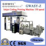 Codage de jet d'encre Gwasy-Z l'héliogravure Machine pour sacs de produits chimiques