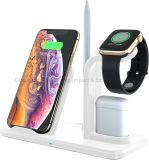 3 in 1 draadloos oplaadstation; snelle draadloze oplader voor telefoons, iwatch, Airpods; compatibel met iPhone, Samsung-telefoons en.