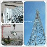 Torretta d'acciaio della grata di comunicazione di a microonde di angolo triangolare dell'antenna