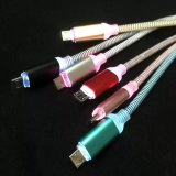 Кабель питания производителя нейлоновые экранирующая оплетка кабеля USB для iPhone