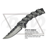"""4.8 """"faca de fantasia fachada Spring Fantasy com lâmina de espelho (4PN75-50MF)"""