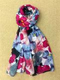 Het Digitale Afgedrukte Kleurrijke Lange Katoen van de bloem Dame Scarf
