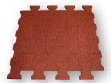 Verrouillage des tuiles de caoutchouc pour une salle de gym, des sports tapis en caoutchouc antiglisse, revêtements de sol en caoutchouc anti-fatigue avec intérieur/ Revêtement de sol en caoutchouc coloré
