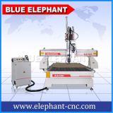 Ele-1325 2spindles 3D hölzerne CNC-Ausschnitt-Maschinerie für das hölzerne Schnitzen
