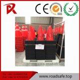 Les panneaux de signalisation réfléchissants PVC en plastique orange trafic cône réfléchissante