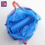 여분 강한 HDPE 부엌 검정 졸라매는 끈 쓰레기 봉지