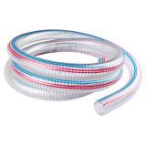"""1/4 de """" boyau renforcé clair de ressort du boyau de fil d'acier de PVC ~10 pouces/PVC"""