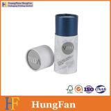 Дух изготовленный на заказ логоса косметический упаковывая вокруг коробки цилиндра пробки бумажной