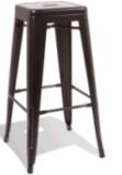 Silla industrial antigua de la alta barra de Marais del metal del café