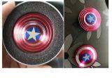 Dedo do girador da inquietação de 2017 da liga de alumínio da mão do girador superman elegantes elevados novos/capitão América