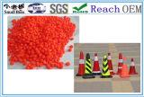 Construction orange les cônes de matériel de granules de PVC