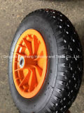 농장 바퀴 3.50-8 압축 공기를 넣은 외바퀴 손수레 타이어