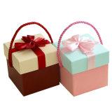 De mooie Draagbare Vierkante Doos van de Gift met Bowknot voor de Toepassing van het Huwelijk en van de Verjaardag, de Doos van de Gift van het Suikergoed, de Doos van de Appel