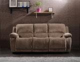 Wohnzimmer-Sofa mit dem modernen echtes Leder-Sofa eingestellt (897)