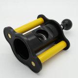 Rectángulo amarillo de Cohiba y negro lujoso del cortador de cigarro del estilo del resorte de la guillotina o de regalo de las tijeras (ES-EB-019)
