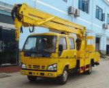 Caminhão da operação da alta altitude do veículo 12m do elevador do crescimento do trabalho aéreo de Isuzu 4X2