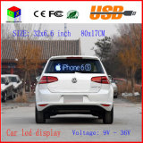 Affichage LED voiture intérieure image programmable couleur RVB LED Sign support Défilement texte LED publicité Affichage à l'écran