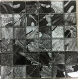 Tuile de mosaïque moderne de verre feuilleté de lame d'érable de type