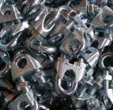 Clips malléables de câble métallique, zinc Piated