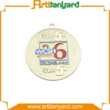 Médaille d'argent bon marché personnalisée avec la bande