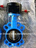 Válvula de borboleta do assento do disco EPDM do ferro de molde CF8m com engrenagem