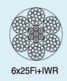 Corde 6X25fi+Iwrc de fil d'acier d'Ungalvanized