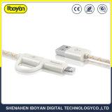 2 в 1 данных молнии зарядки мобильного телефона кабель