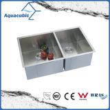Upc-doppelter Filterglocke-Edelstahl-handgemachte Küche-Wanne (ACS 3322A2)