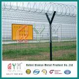 Сварной проволочной сеткой ограждения/безопасности аэропорта ограждения верхней части при помощи провода