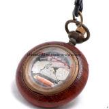 Вахта механически деревянного ожерелья привесной карманный для повелительницы Горяч Сбывания