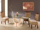 Vidro temperado fosco e estampado de tela clara e de seda para mesa de mesa / mesa de café