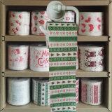 Noël plaisante les tissus de salle de bains drôles estampés par chiffons de rouleau de papier hygiénique de toilette